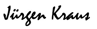 Jürgen Kraus signature